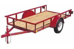 4' x 10' 3500 lb axle tilt deck, ball size 2""