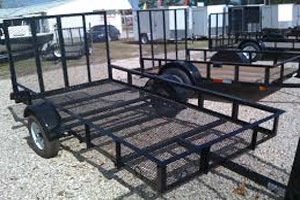 5' x 10' Mower Trailer, ball size 1 7/8""