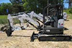 "Bobcat E20 with 18"" Bucket"