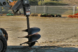 Skid Steer Auger Attachment w/ 1 Bit