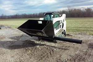 "Skid Steer Silt Sock Filler, Fills sock from 8""-24"""