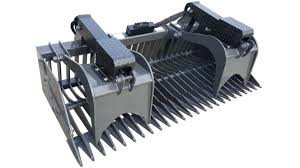 Skid Steer Rock Bucket With Grapple